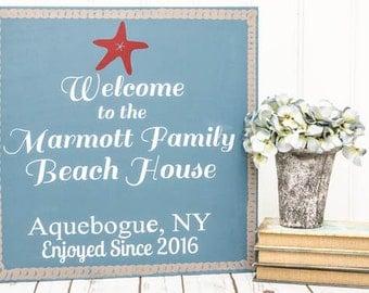 Custom Beach House Sign - Beach Decor - Beach Signs - Personalized Beach Signs - Beach House Decor - Beach House Gift -Beach Art -Beach Home