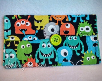 Travel Changing pad with pocket - Monsters