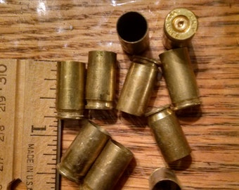 Fired Bullets  (10) 9mm Luger Empty Bullets, Fired Shells, Casings, Jewelry Supply , Steampunk