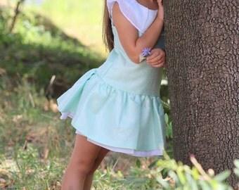 Dress agua tone, Dress light silver sheer, Summer dress girls, Toddler girls dress, Special occasion dress