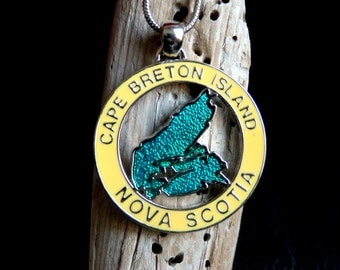 Cape Breton Necklace, Cape Breton Jewelry, Cape Breton Pendant, Nova Scotia Jewellery, Cape Breton Jewellery, Nova Scotia Pendant
