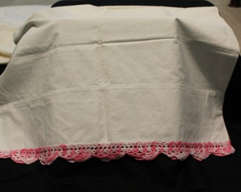 First Lady Pink Laced Pillow Cases