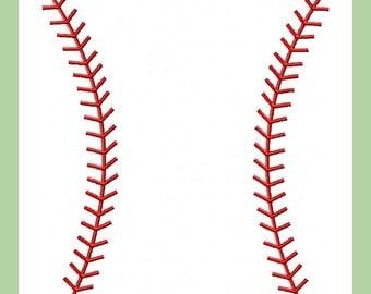 Machine Embroidery Design  Baseball Stitches comes in 4 sizes 3x3 4x4 6x6 8x8