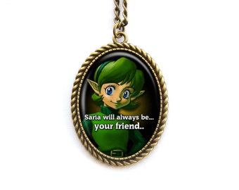 Necklace The Legend of Zelda Ocarina of Time Saria Will Always Be Your Friend