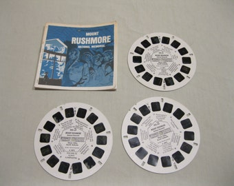 Mount Rushmore National Memorial, GAF Viewmaster A487, 3 reels and booklet.