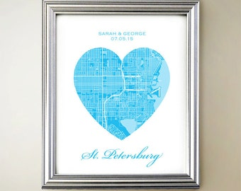St Petersburg Heart Map