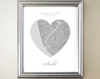 Sochi Heart Map