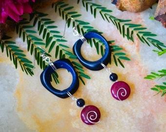 Earrings, Earrings Wood,Earrings Geometric, Earrings Handmade, Beach Jewelry, Long Earrings,Girls Earrings, Boho Earrings, Bohemian Earrings