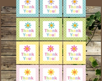 Printable Favor Tags /Thank You Printable Favor Labels/ Instant Download / Baby Shower Printable Favor Tags