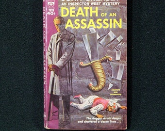 Death Of An Assassin by John Creasey, Vintage 1962 1st Printing Berkley Books Paperback Mystery/Adventure #Y628 SCARCE!