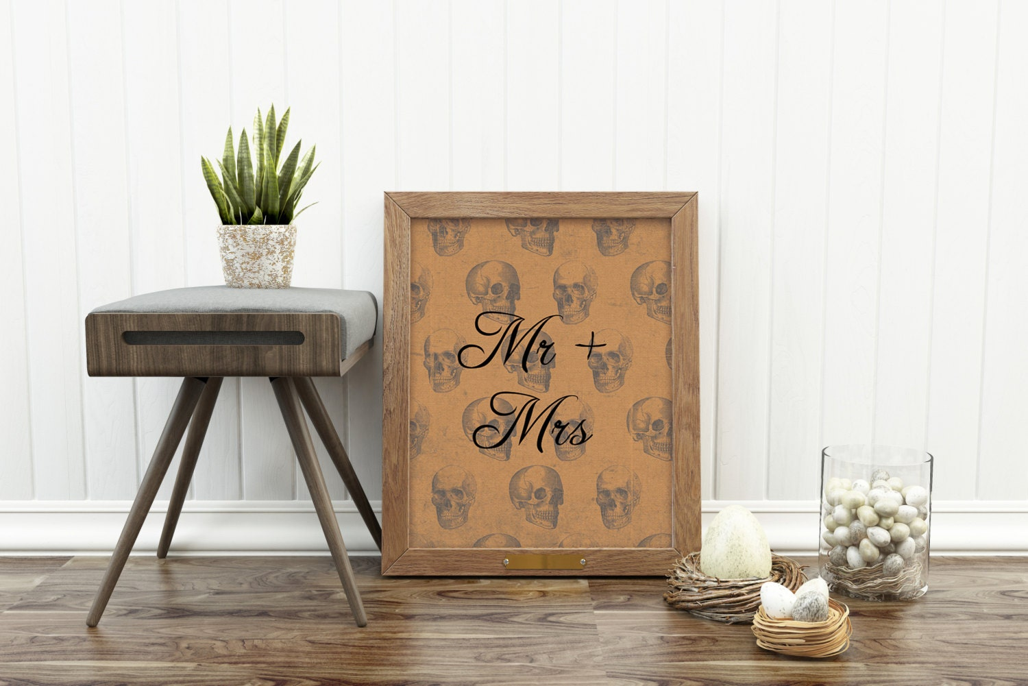 Mr and Mrs Print Alternative Wedding gift by HangingMonkeyArts