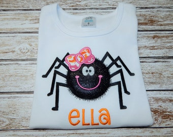 Girl's HALLOWEEN Shirt; Halloween spider shirt; Girl's Halloween bodysuit; Baby Girl Halloween; Personalized Halloween shirt