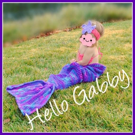 TODDLER CROCHET PATTERN for Crochet Mermaid Tail Blanket