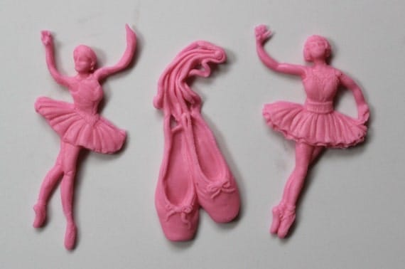 Ballerina cake topper 12pcs ballet cupcake toppers edible for Angelina ballerina edible cake topper decoration sale