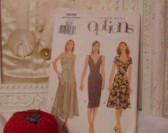 UnUsed Vogue Dress Very Easy Patterns Patron Uncut Factory Folded