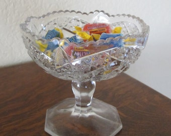 EAPG, vintage, small compote, candy dish on pedestal-free shipping USA