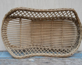 Rare Antique Willow Basket Baby/Doll Bed!