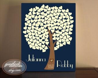 Wedding Guest Book - Guest Book Tree Canvas - Wedding Tree Guest Book - Heart Tree Guest Book - Guest book print - 150 Guests - 16x20 print