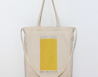 Inside the Sun - Canvas tote bag / Daily bag / Graphic Design / 1 Day 1 Bag