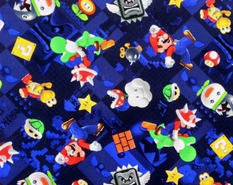 Fabric by the 1/4 Yard - Super Mario Cotton