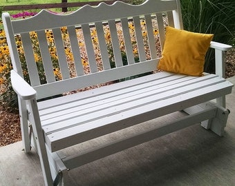 Yellow Pine Royal English 6ft. Porch Glider