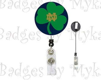 Retractable ID Badge Holder - Notre Dame 2