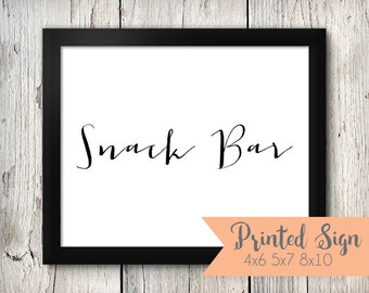 Snack Bar Wedding Sign, Snack Bar Wedding Signage, Snack Bar Wedding Signs (71-HW)
