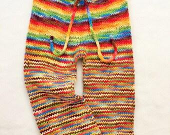 CUSTOM Handknit Baby, Toddler Wool Pants, Longies for Cloth Diapering, Girl, Boy, ECO-Friendly