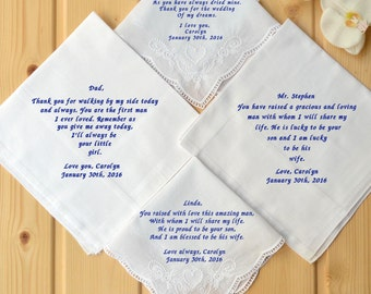 Wedding Gift For Parents At Rehearsal Dinner : ... set for parents! rehearsal dinner gift! embroidered wedding gift