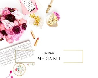 Custom Media Kit - Business and Blogger Media Kit