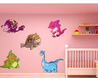 25% SALE - FREE SHIPPING Baby Dino Set Ii nursery wall decal, deco, sticker, mural, vinyl wall art