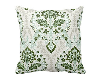 Green Throw Pillow Cover Forest Green Pillow Covers Decorative Pillows for Couch Cushions Damask Pillows 20x20 Pillows 18x18 Pillows