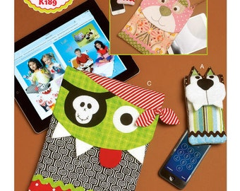 Ellie Mae Designs Pattern K0189 Animal Face Electronic Device Cases