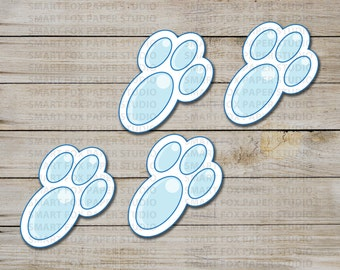 Easter Bunny Foot Prints - Instant Download - Easter Digital Printable -  Digital Easter - Kids Easter Craft - Bunny Feet - Easter Craft