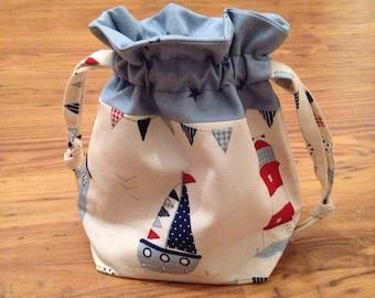Sale Boat & Stars Wash / Make Up / Toy Bag