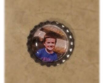 Personalized Photo Bottle-cap Magnets