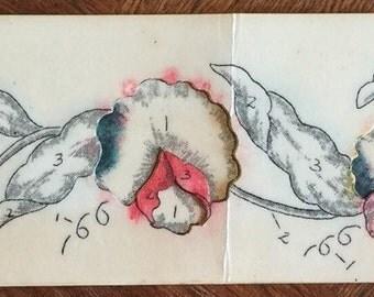 Vintage Wax Stencil, Floral Stencil; Vera Waters; 3 parts, Cut