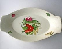 Norwegian Pottery Egersund Vegetable and Legume Serving Dish, Scandinavian design. Egersund of Norway