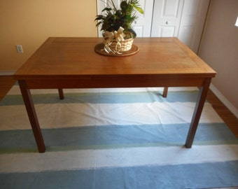 """HUGE Vintage Authentic Ansager Mobler Made in Denmark Danish Modern Mid Century Teak Dinner Dining Kitchen Table Expandable to 93"""""""