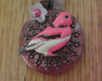 Pink Bird Locket