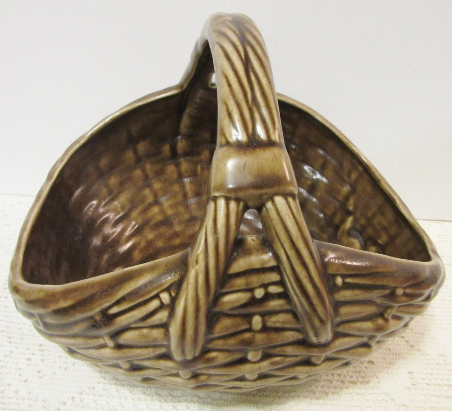 Ceramic Basket Glazed Large Centerpiece By Porcelainchinaart
