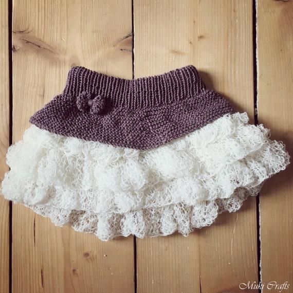 Knitting Skirt For Baby : Knitting pattern tutu ruffle mini skirt anniki toddler child