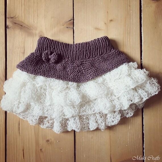 KNITTING PATTERN tutu ruffle mini skirt Anniki (toddler, child sizes)