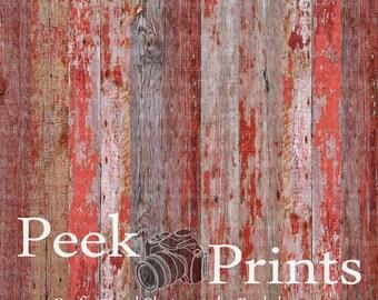 3ft.x3ft. Red Barn Wood Vinyl Backdrop WOOD FLOORDROP