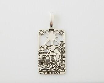 XVII Star Tarot Pendant in Sterling Silver