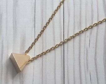Pretty Pyramid's | Gold Pyramid Choker