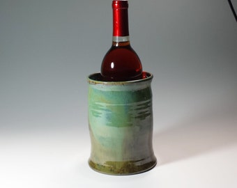Wine Chiller,Ceramic Wine Chiller,Kitchen Utensil Holder,Wine Accessories,Gift Ideas,pottery ice bucket,Ready to Ship,Pottery Wine Chiller