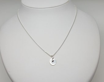Hash tag sterling silver necklace