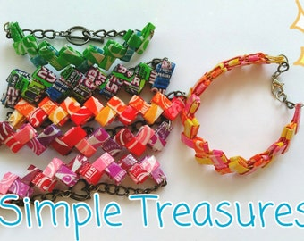 Recycled Wrapper Bracelet