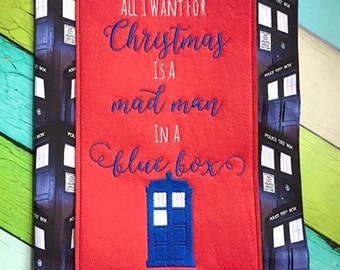 Doctor Who Inspired Christmas Embroidery Design Set